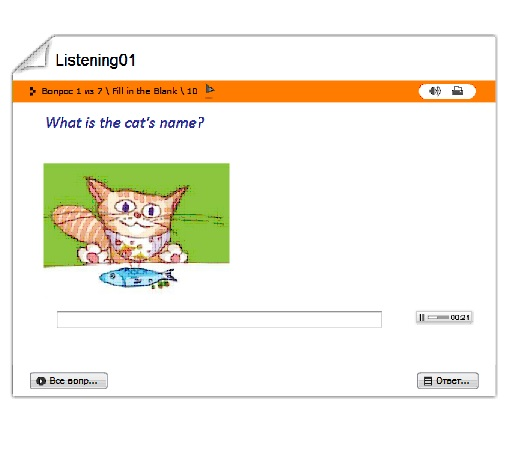 listening exercise for children - names and numbers